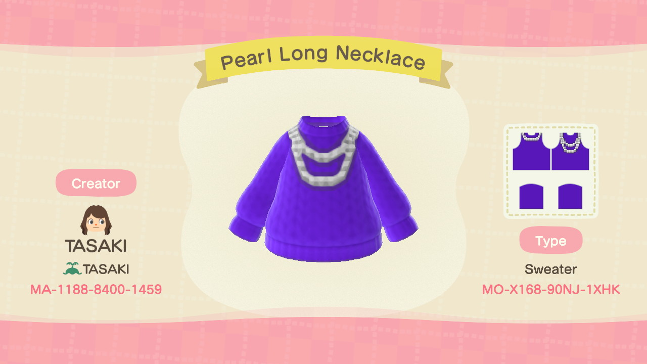 Pearl Long Necklace セーター