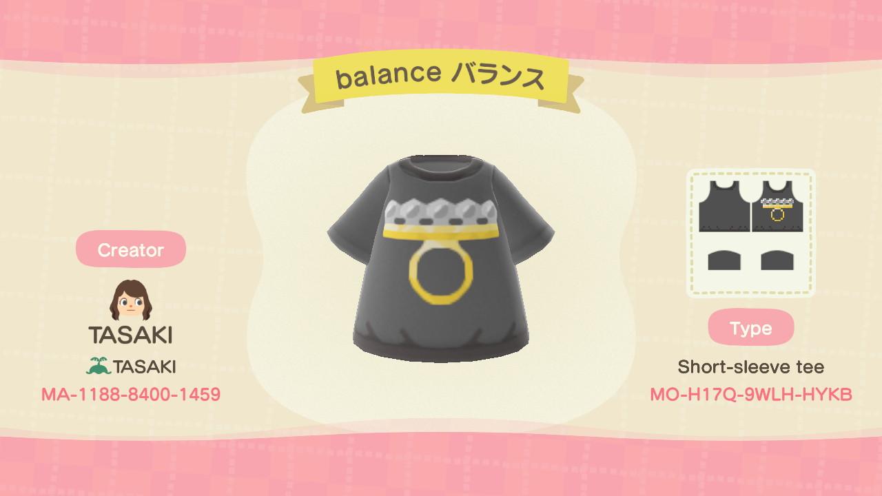 balance はんそでTシャツ